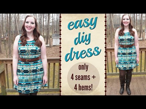 DIY Easiest Dress Sewing Tutorial Ever! | How to Sew Easy for Beginners | Stretch Fabric