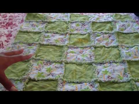 Blooming Rag Quilt Tutorial, Part 5 of 5: Cutting the Seams & Making it Bloom!