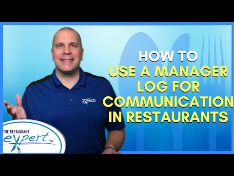 Restaurant Management Tip - Use a Manager Log for Communication in Restaurants #restaurantsystems