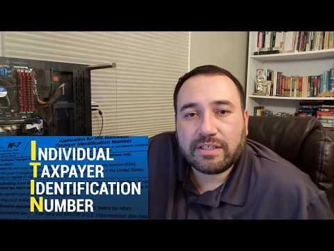 TAX ID - ITIN Number nos EUA!