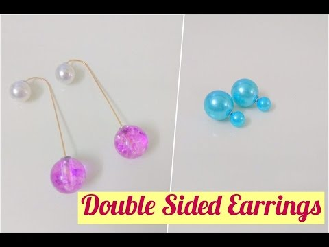 Double Sided Pearl Ball Drop Earrings & Double Sided Pearl Earrings| Craftziners # 69