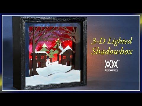 Lighted 3-D Scroll Saw Shadowbox   WWMM ART & DESIGN