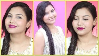 Glam Day Makeup/Simple Day Wedding Makeup/INDIANGIRLCHANNEL TRISHA