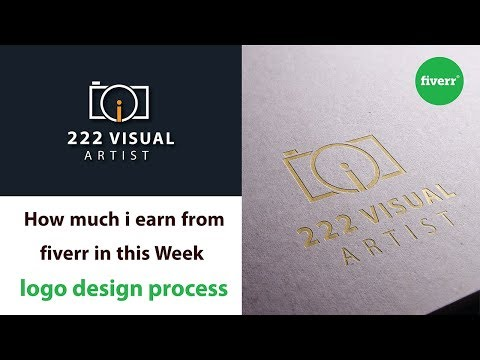 My this week earning from Fiverr With Earning Proof  ~ logo design process ~ how to earn from Fiverr
