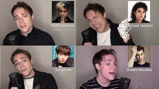 ONE GUY, 54 VOICES (With Music!) Drake, TØP, P!ATD, Puth, MCR, Queen - Famous Singer Impressions