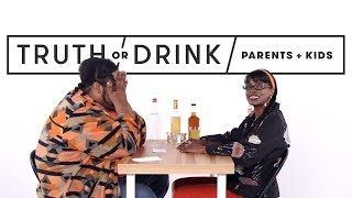 Parents & Kids Play Truth or Drink