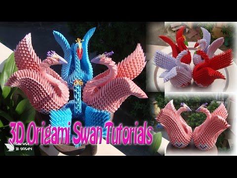 How To Make 3D Origami Swan For beginner | DIY Paper Swan Tutorials