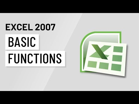 Excel 2007: Basic Functions
