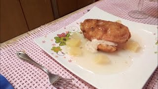 Stuffed Chicken Breast With Pineapple Sauce