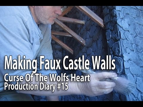 Stop Motion Animation - Making Faux Castle Walls