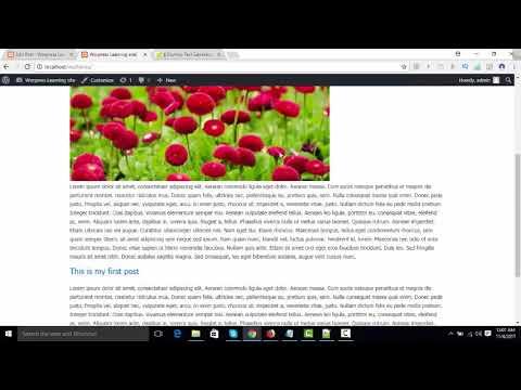 WordPress Theme Development (create index page) Part 4