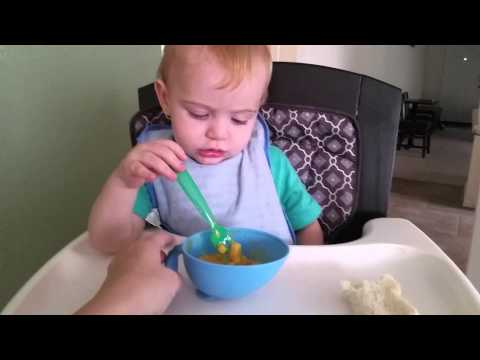How to teach baby to eat with a spoon or fork