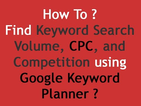 How to Find Search keyword volume, CPC and competition using Google Keyword Planner | SEO Tricks