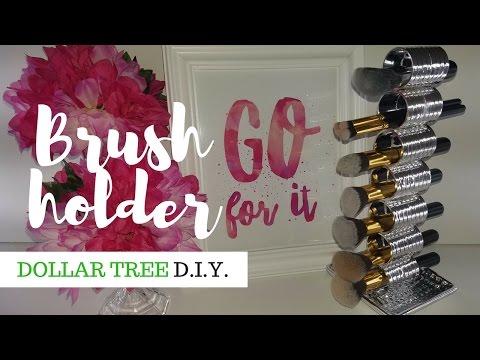 Dollar Tree DIY | Brush Holder