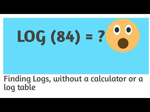 Finding Log value without Calculator   Logarithm