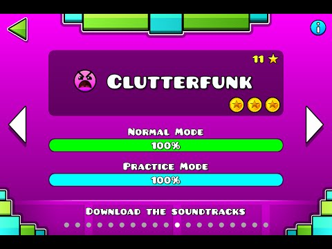 Geometry Dash | Level 11 | Clutterfunk | 1 attempt | (insane) 100%