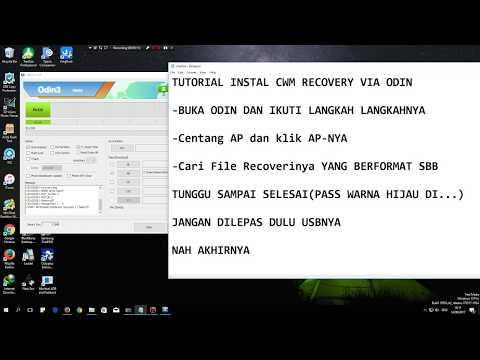 Tutorial cara pasang CWM(ClockWorkMod)/TWRP(TeamWinProject) Recovery Di Android Via Odin