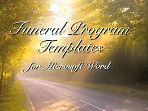Free Funeral Program Template - Funeral Programs