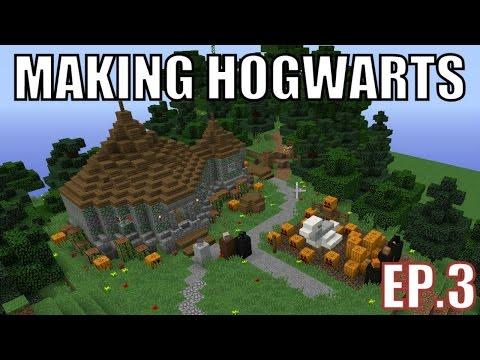Building Hogwarts on Minecraft - Episode 3 - Creative Fun Server (Hagrid's Hut & Azkaban Prison)