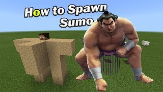 How to Spawn a SUMO WRESTLER | Minecraft PE