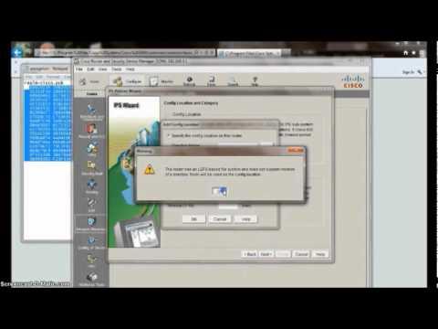 Cisco students demo configuring IPS on Cisco Router
