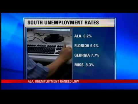Alabama Unemployment Rate among Lowest in South