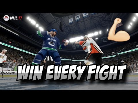 HOW TO WIN EVERY FIGHT IN NHL 17