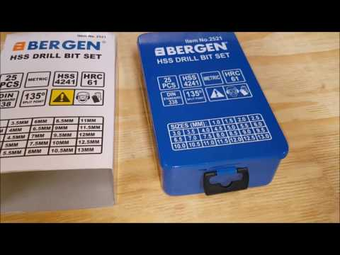 Bergen 25pc hss bit set unboxing