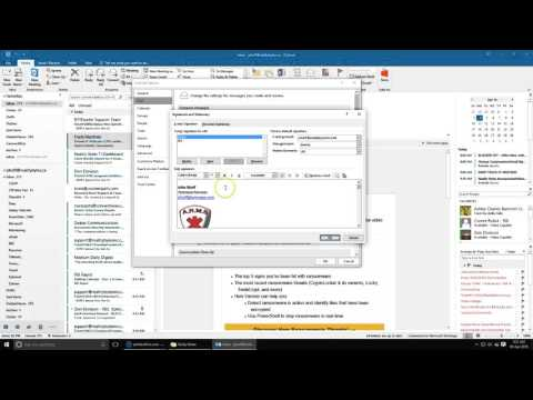 How to edit your Outlook signature (Outlook 2016)