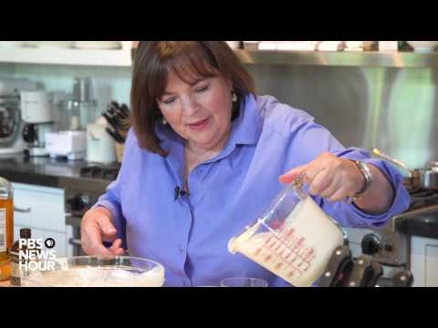Ina Garten shows us how to make a caramel-topped panna cotta
