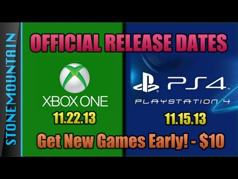 Xbox One & PS4 Release Dates - Best Way to Order Next Gen Games - Get New Games Early!