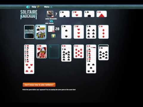 Solitaire Knockout - Facebook Gameplay