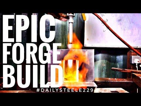 BUILDING AN EPIC BEGINNER BLACKSMITHING FORGE! *IN 4K*