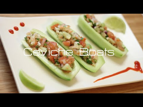 How To Make Shrimp Ceviche Boats // Mexican Style!