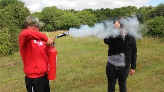 WE HAD A HUGE FIRE EXTINGUISHER FIGHT!!