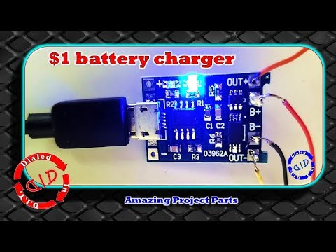 Li-Ion Battery Charger $1 - awesome parts