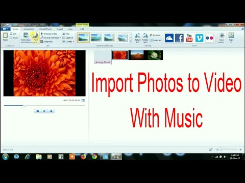 How to make photos to video with background music in movie maker