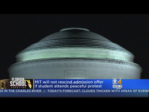 MIT Won't Reject Applicants For Attending Peaceful Protests