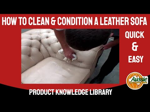 How to clean and condition a leather sofa