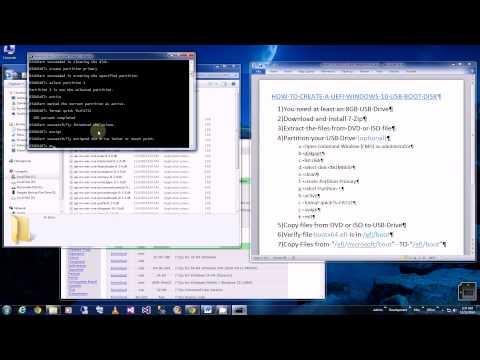 USB UEFI Boot - How to Create a Win10 UEFI USB Boot Disk