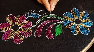 Hand Embroidery Bangladeshi Traditional Nokshi Kantha Stitch Tutorial-171,NakshiKantha Selai by Hand