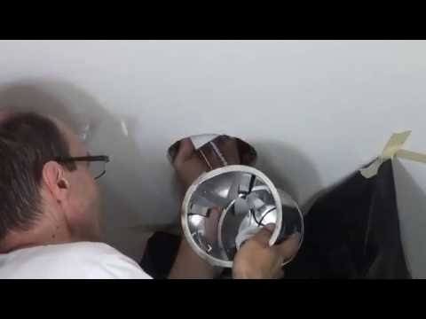 How to replace Old Globe Light for a New Recessed Housing Trim Light