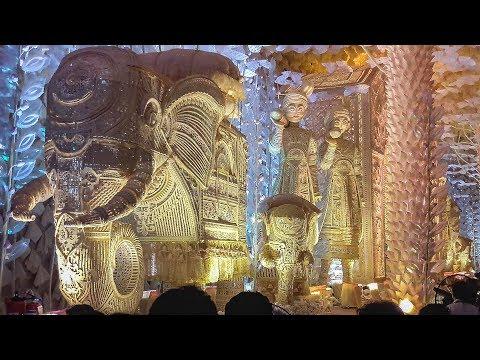 Mudiali Club Durga Puja 2017 - Devi Durga in Palki | Superb Art-work