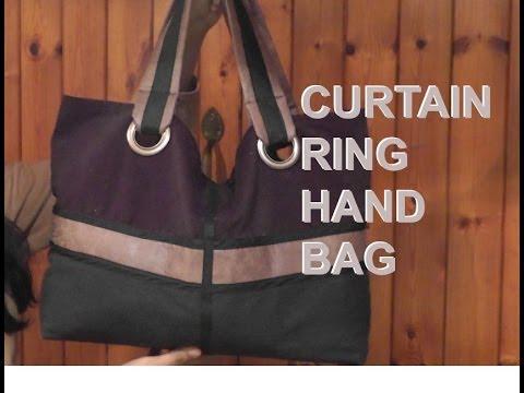 New Curtain Ring Hand Bag Tutorial / DIY Bag Vol 9