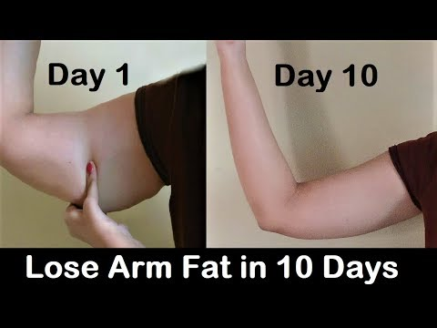 How to Lose Arm Fat - Get rid of Flabby Arms in 1 WEEK, Easy exercise to reduce arm fat
