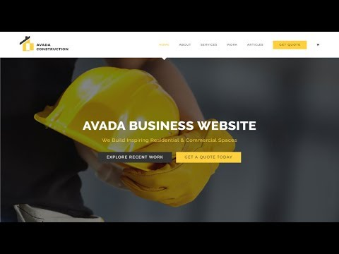 How to Make a Website With WordPress 2017 - Avada Theme Tutorial