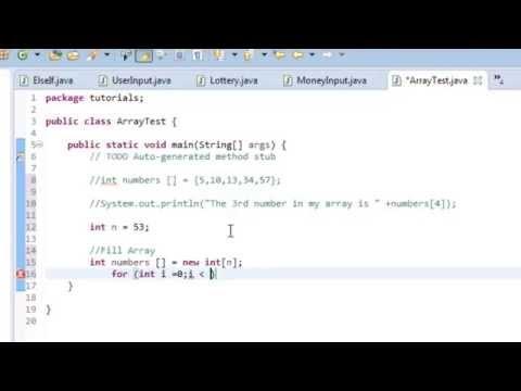 Java tutorial 9: Intro to Arrays