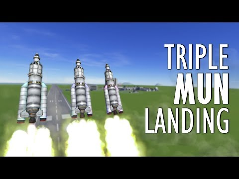 Download Three Mun Landings AT THE SAME TIME - KSP