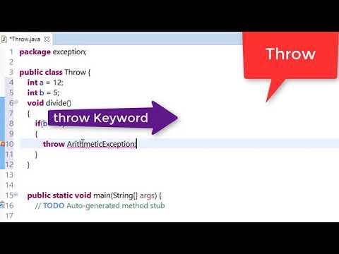 72. Throw keyword in java