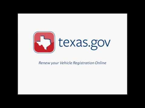Texas.gov Vehicle Registration Renewal Demo Video